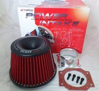 Wholesale top racing Universal Air filter Power Intake Kit Neck mm Without Logo100 Brand New Universal Power Intake