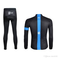 Wholesale 2016 New SKY Autumn None Fleece Cycling Ropa Ciclismo Invierno Cycling jerseys Super Warm Bicycle Clothing Long GEL Pad Pants