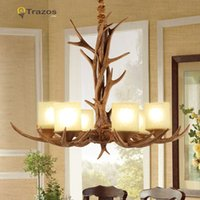 antlers ceiling - Countryside Chandelier for Home lighting decoration indoor christmas lamp pendentes e lustres Antlers wooden ceiling chandelier