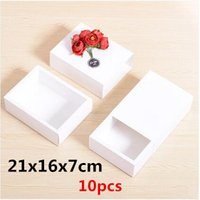 advanced crafts - 21x16x7cm Advanced white cattle card kraft paper box Plaster of Chinese Mid Autumn Festival gift tea box and so on