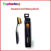 Wholesale Cosmetic Oval Brush Anastasia Beverly Hills Oval Makeup Brush Foundation Brushes BB Cream Powder Brush Tooth Shape Brush Makeup Tool