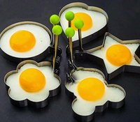 Wholesale 100pcs Design Star Flower Heart Circular Bear Stainless Steel Eggs Fried Device Fried Pans Eggs Tool Kitchenware