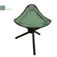 Wholesale Folding Stool Hiking Fishing Portable Pocket Chair Tripod Seat Legs Steel Blue metal foldable fishing stool folding tripod chair