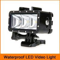 Wholesale Waterproof Diving Light High Power Dimmable LED Light Underwater Light For Gopro Hero SJCAM SJ4000 SJ5000 Xiaomi Yi