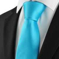 baby business suit - Ties Men Necktie Solid Baby Blue Mens Tie Necktie for Men Suit Necktie for Formal Business Wedding Party KT1018