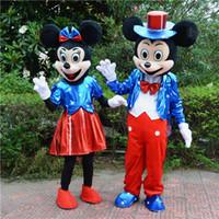 Nueva Estrella Mickey ratón Minne mouse Negro Ratón Pascua Mascota Traje a la venta Ropa de Navidad Halloween Partido Adulto Traje