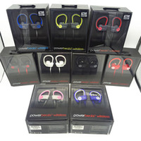 active noise cancelling headphones - Beats powerbeats wireless Active collection earphones noise Cancel Headphones Bluetooth Headset Refurbished with seal retail box