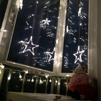 ac day - 2M LED Curtain Star string lights Star Lamp Day White Curtain String Fairy Light Xmas Deco