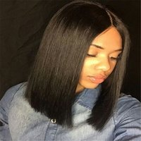 Wholesale Short Lace Front Wigs Human Hair For Black Women Malaysian Short Bob Lace Front Wigs Glueless Full Lace Wig With Bangs