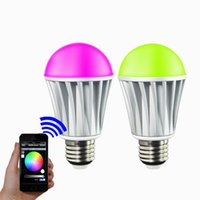 Wholesale Lite Smart LED Light Bulb Bluetooth7W RGB Multi Colored Smartphone Controlled Dimmable For iPhone iPad and Android
