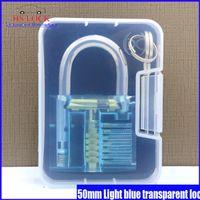 auto sales training - Hot Sale Professional Transparent Practice Padlock Locksmith Training Tools Set Light Blue color fast ship with plastic box pack