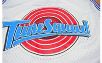 Wholesale Retro TAZ TUNE SQUAD SPACE JAM MOVIE JERSEY TOON WHITE NEW SEWN ANY SIZE S XL Mens embroidered Basketball
