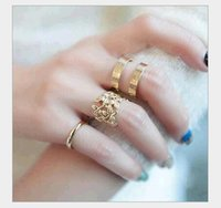 best metal engagement rings - Rings Fashion jewerly New best sellers Tree Leaves three piece set metal joints Leaf blade rings D142 women s gift cheap