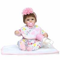 american model doll - Silicone Newborn Reborn Vinyl Dolls Babies Toys Alive for Children Girls Body Plush American Girl Dolls Birthday Gift for Sale High Quality