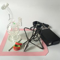 Wholesale Female mm Joint Recycler Oil Rigs Glass nail Kit Nail WAX Vaporizer Dry Dried Herbal E Cigarettes Vaporizer Glass Bong Water Pipe