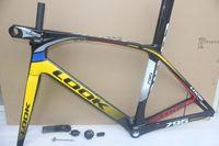 Wholesale Best selling K Pink Black design look s road bike carbon frames with BB30 BB68 Made in China carbon road bike frameset