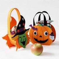 Wholesale New Halloween Decoration Props Handbag Pumpkin Bags Spide Skull Bag Shopping Bag Bars Decor Party Supplies Kid Candy Gift Bag