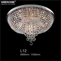 Wholesale Cristal Ceiling - Diameter 600mm Round Crystal Ceiling Lights Fixture Lustre de cristal Lamp, Crystal Chandelier Stair Light for and Foyer   Hallyway MD8559