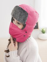 assorted winter hat - Winter Outdoor Windproof Hat Multifunctional Wigs Cap Thermal Face Mask Anti terrorism Bilayer Sheet Mask Color Assorted