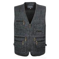 Figurão mais Preços-dos homens Coletes sem mangas Casual Jacket Brasão tiro Vest Além disso Big Size XL-7XL militar do exército Traveler