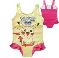 Wholesale 3 style Picacho girls swimsuit One piece garment Bikini Pocket Monster Print Poke Bikini Suits