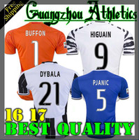 Wholesale Best quality Send Free Juventus jerseys pogba DYBALA HIGUAIN buffon morata shirt