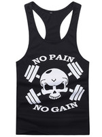 active gain - New Bodybuilding Golds Gym Singlet Stringer Skull NO PAIN NO GAIN Fitness Muscle Men Tight Workout Tank Vest