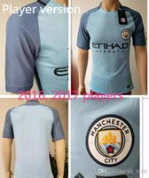 Wholesale player version Top quality Adult maillot de foot Shirts Camisetas KOMPANY STERLING SILVA survetement Manchester city Soccer jersey