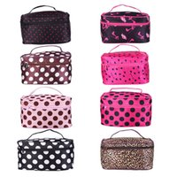 Wholesale Women Foldable Travel Makeup Bag Portable Zippered Cosmetic box functional Cases Large Capacity Organizer Maleta de maquiagem