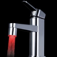 auto spout - Promotion Modern RGB Colors Changing LED Water Sink Faucet Tap Multicolor Glow LED Light Automatic Water Stream Spout Sink Tap