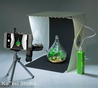 background cell phone - Mini Photography Studio Light Tent Light Room Light Box Kit with LED Lighting Two Background Black White Cell Phone Lens