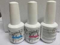 Wholesale new ml gel Polish Top it off and Foundation LED UV Gel nail polish base coat and top coat Nail art high quality