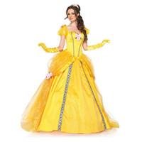 attractive female - Attractive Sexy Princess Lolita Cosplay Costume Halloween Carnival Dress Snow White Princess Costume Yellow Women Costume M L HW20007