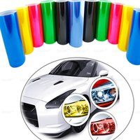 Wholesale 30cmx100cm Car Headlights Taillights Lights Tint Protective Vinyl Film Stickers Changing Color