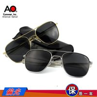 authentic film - Authentic American AO pilot Polarized Sunglasses special inner blue film polarized classic Randolph straight legs Sunglasses
