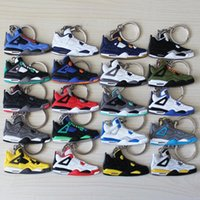 Wholesale Fan Souvenirs Basketball Shoes Keychain Sneakers Key Chain Fashion Key Rings Jump Man generation PVC Keychains Color to choose