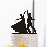 baby ballroom dancing - Acrylic Ballroom Dancing custom name birthday cake toppers wedding bridal baby shower Bachelor party theme decorations
