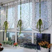 Wholesale 1pc Flower color Tulle Door Window Curtain Drape Panel Sheer Scarf Valance E00615 SMAD