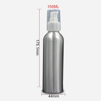 aluminum lotion bottles - 150ml Aluminum Pump Lotion Bottle Travel Empty Cosmetic Packaging Bottle Personal Care Makeup Containers FZ135