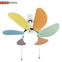 Wholesale 2015 New Fashion modern quiet ceiling fans with lights for children wood iron chinese Factory Multicolor wood fan