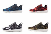 Wholesale 2016 Mens Olympic Roshe Run Sneakers Camo Running Shoes Camouflage Sports Sneakers