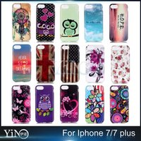 beautiful wind - For Iphone Plus Soft TPU Case Beautiful Flower Flag Heart Owl Wind Chime Red Rose Painted Cover
