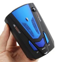 Wholesale Red blue Color English Voice Degree Anti Police Radar Detector V7 For Car Speed Limited GPS Radar Detector