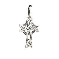 antique eternity - 20pcs Antique Silver Celtic Necklace Eternity Knot Cross Pendant Promotion Gift