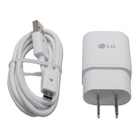 Wholesale Original LG V10 G4 G5 fast charger A quick charger wall charger for LG G5 V10 nexus X P MCS H05WR LG original A micro usb cable
