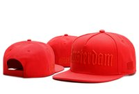 amsterdam fashion - 2016 new fashion red amsterdam snapback hats baseball caps for men women brand cap sports hip hop flat sun hat bones gorras cheap Casquette