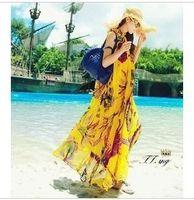 adult singles vacations - New Peacock FLOWER Original Single Posimi Seaside On Vacation Sandy Beach Skirt Longuette Dress Chiffon