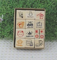 award types - Hot Selling New Style Paper Box Teacher Award stamp Type rubber stamp Set