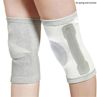 Wholesale 2017 New Bamboo Elastic Knee Support Thin Breathable Brace Warm Kneepad Sports Safety Support Winter Warming Knee Support