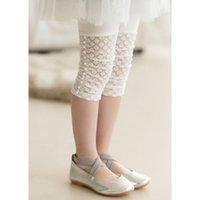 Cheap Children Girl Summer Kids Pearl Legging White Color Short Pant